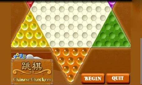 《跳棋》hopchess 是一种传统的中国跳棋,可以在一个六角板上,由两图片
