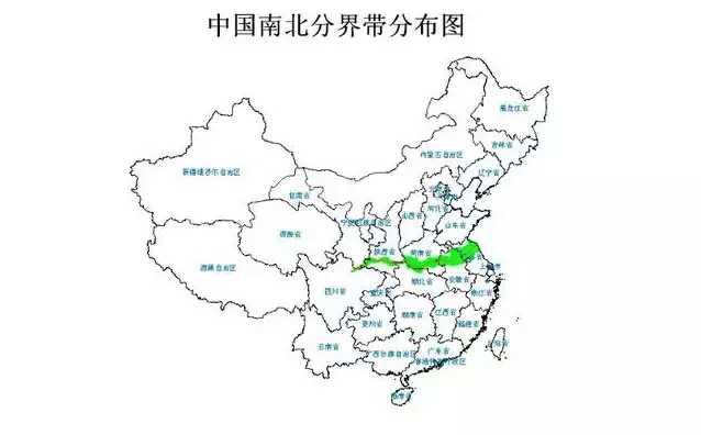中国以什么来划分北方和南方,南方有哪些省份,北方有哪些省份 划分图片