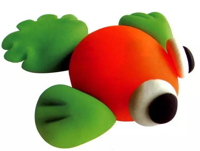 亲子手工(13)彩泥制作的小金鱼,大虾,帆船,你学会了吗