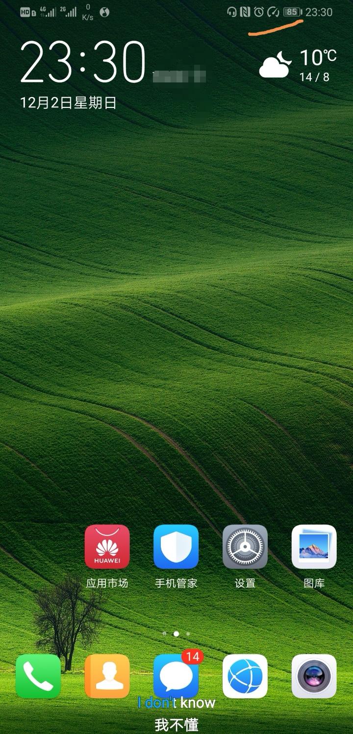 见附图,屏幕上方状态栏电量图标和闹钟图标中间的,什么东东?
