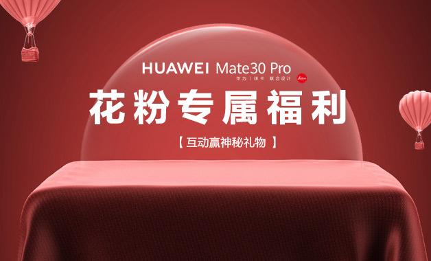HUAWEI Mate30 Pro花粉专属福利,快来领!