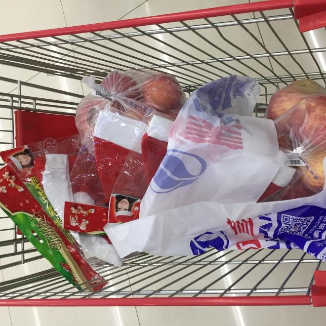 超市购买的苹果