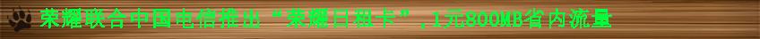 """荣耀联合中国电信推出""""荣耀日租卡"""",1元800MB省内流量.jpg"""