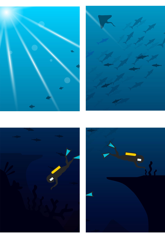 万元征集荣耀v20壁纸 蓝色海洋 深海探索 主题爱好者