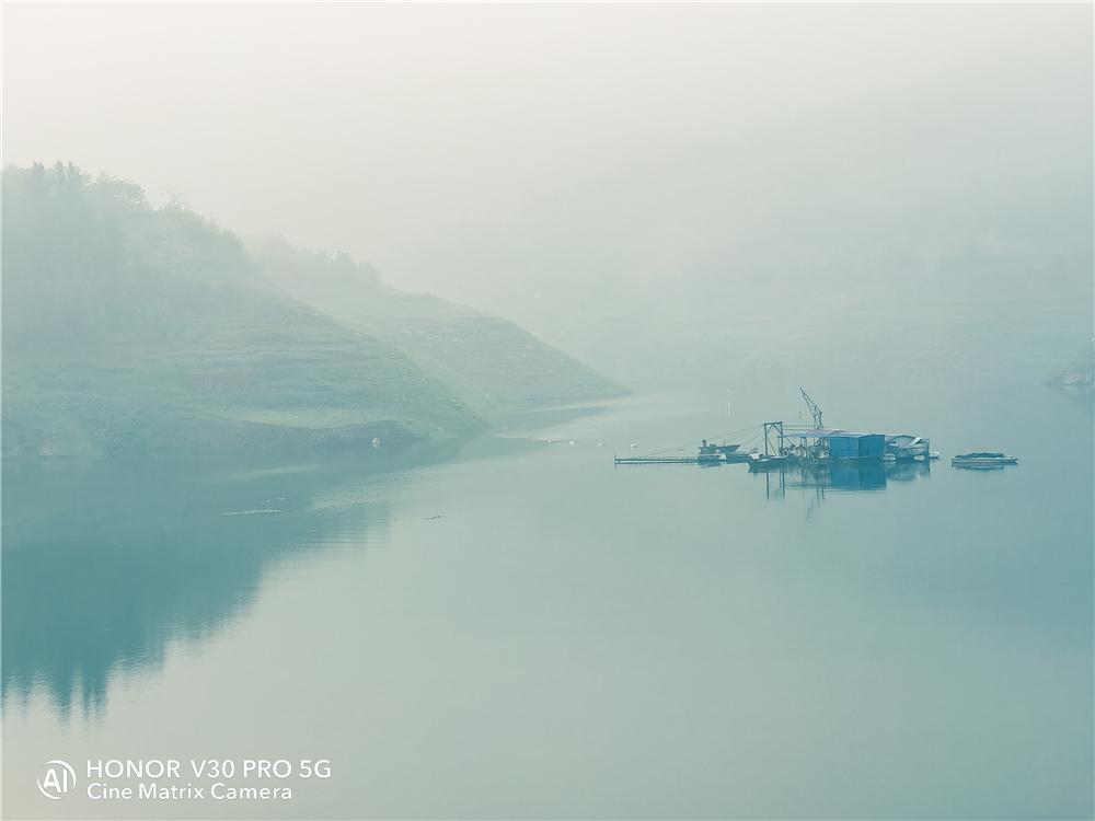 晨光轻雾中的黄河千岛湖,花粉随手拍-花粉俱乐部