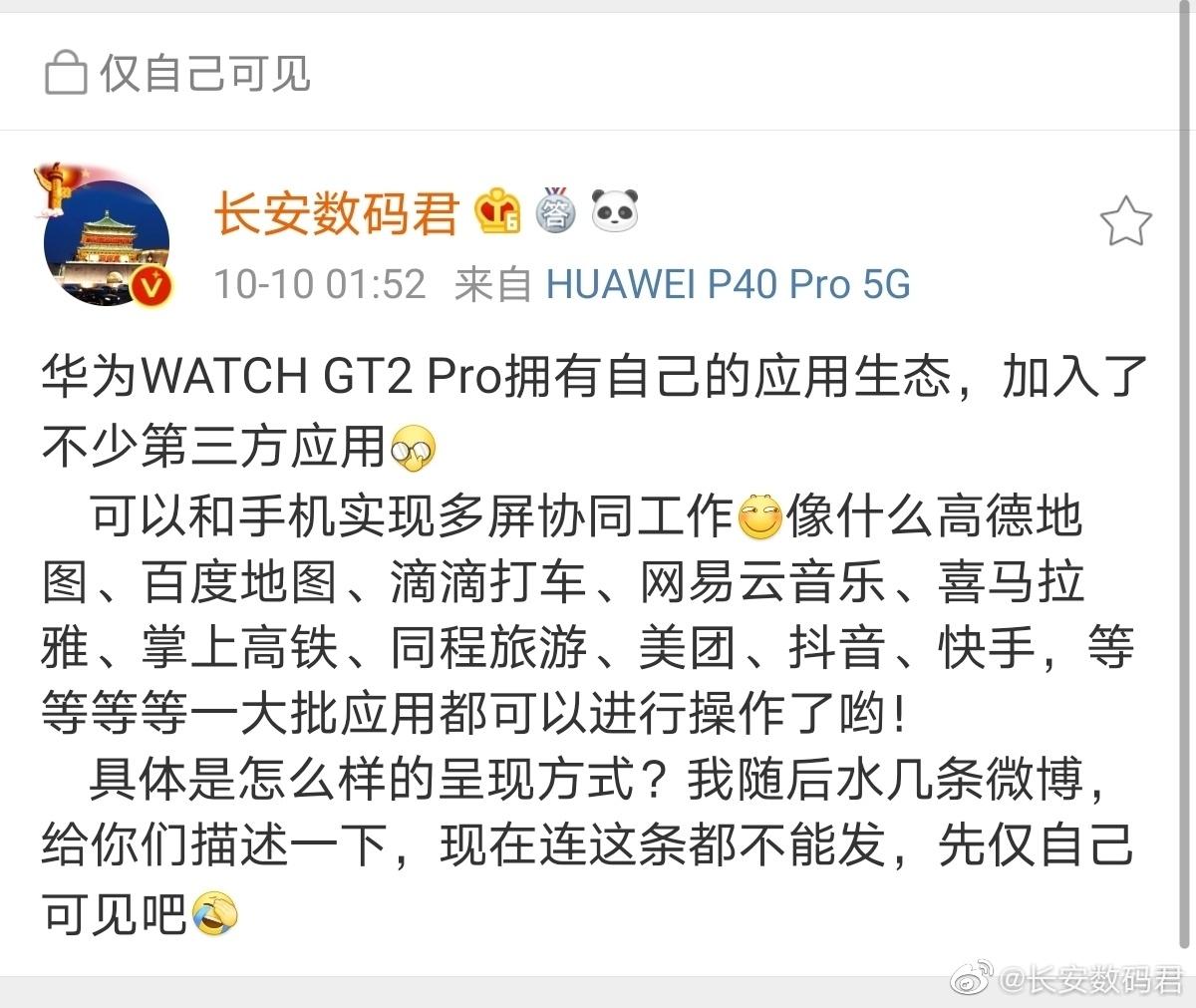 华为Watch GT2Pro曝光,功能强大超乎想象,HUAWEI WATCH GT 2/2e-花粉俱乐部
