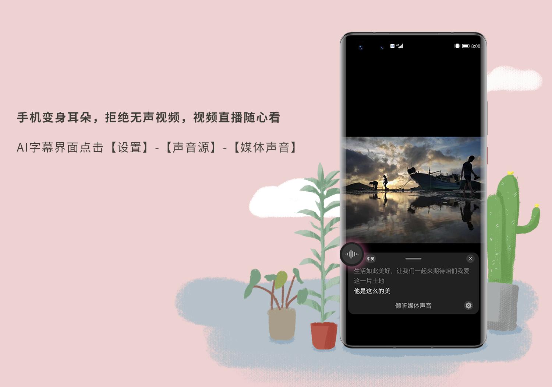 华为AI字幕-视频直播随心看.png