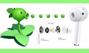 """荣耀FlyPods 3,会降噪的""""豌豆射手"""",一秒切换空间!,荣耀FlyPods系列-花粉俱乐部"""