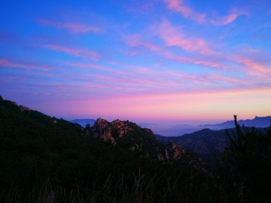 红日未出,远处几缕朝霞,染红了东方。,花粉随手拍-花粉俱乐部
