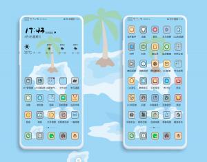 【主题爱好者】鲸喜-清新风-Nova7Pro定制EMUI10专属,主题爱好者-花粉俱乐部