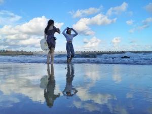 """对!全程手机拍摄!绝美海上""""天空之镜"""",不去茶卡盐湖,照样A爆!,花粉随手拍-花粉俱乐部"""