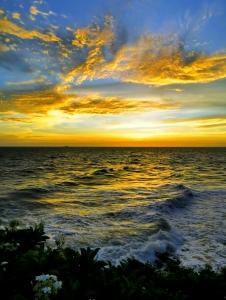 P30pro摄影滨海美丽的霞光,花粉随手拍-花粉俱乐部