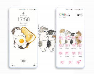 【主题爱好者】最爱橘瞄-日系多壁纸定制版EMUI10主题,主题爱好者-花粉俱乐部