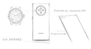 荣耀V40设计手稿首曝:相机太有辨识度,太吸睛!,花粉头条-花粉俱乐部