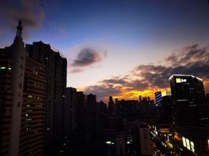 天空中的一抹夕阳,花粉随手拍-花粉俱乐部