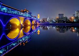 大沂河桥夜色,花粉随手拍-花粉俱乐部