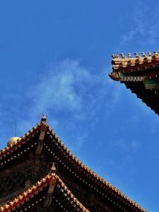 故宫之檐:栉风沐雨,守得蓝天白云。,花粉随手拍-花粉俱乐部