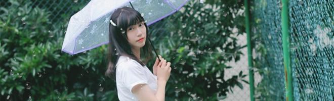 摄影 | 雨天也要仙气十足,小姐姐一身清爽feel小白裙宛如天使!,花粉随手拍-花粉俱乐部