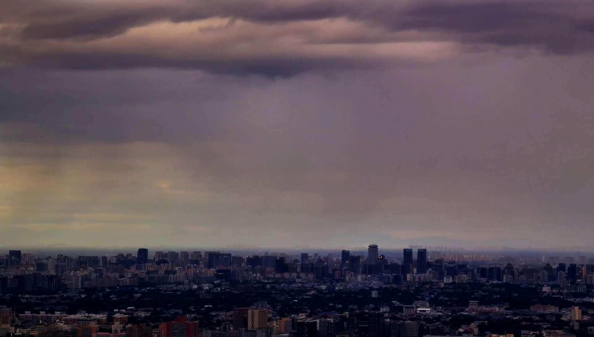 塔上瞰北京·云雨|华为P40pro4K延时看京城云雨,花粉随手拍-花粉俱乐部