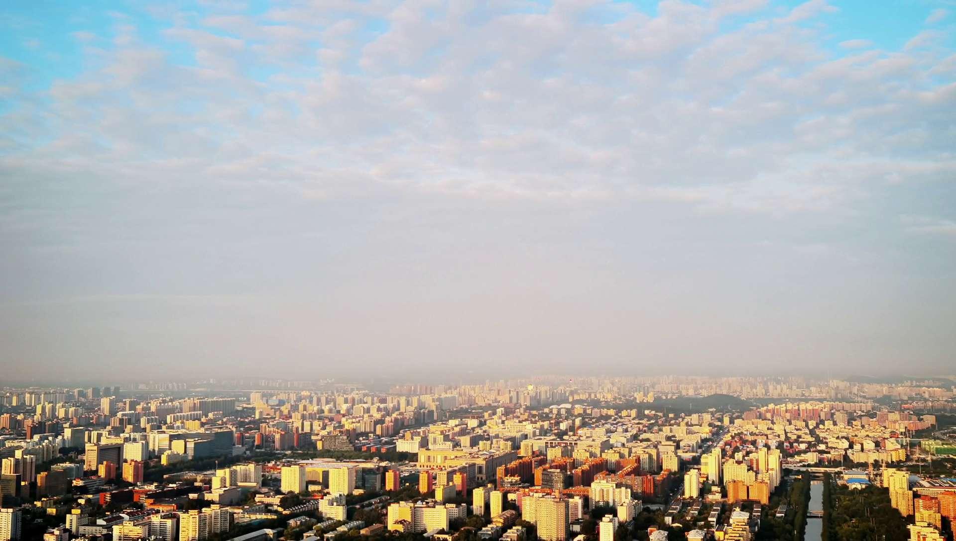 我爱你中国·塔上瞰北京|国庆前日P40pro延时看日月同辉,花粉随手拍-花粉俱乐部