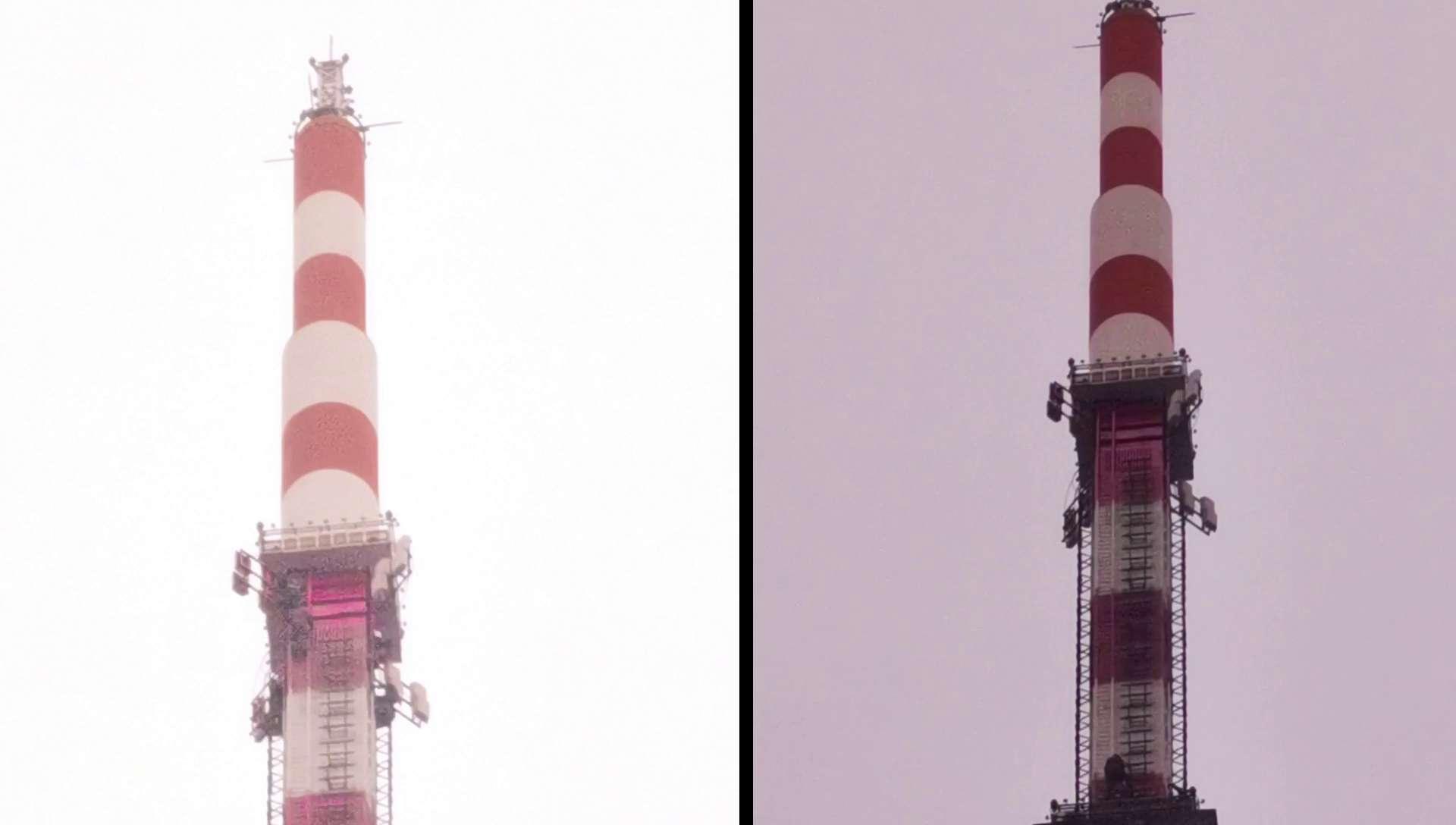 塔尖上的美容师|P40延时摄影带你揭秘405米电视塔桅杆刷漆,花粉随手拍-花粉俱乐部
