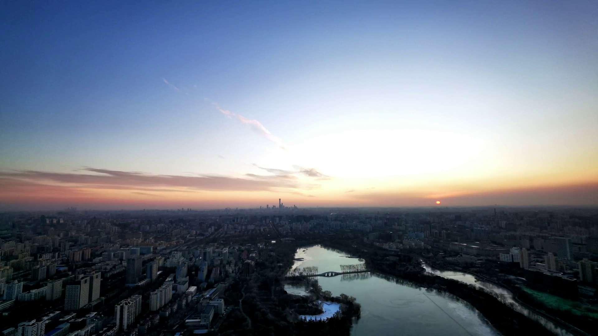 北京平安夜的第一缕阳光|Mate40系列延时摄影,随手拍-花粉俱乐部