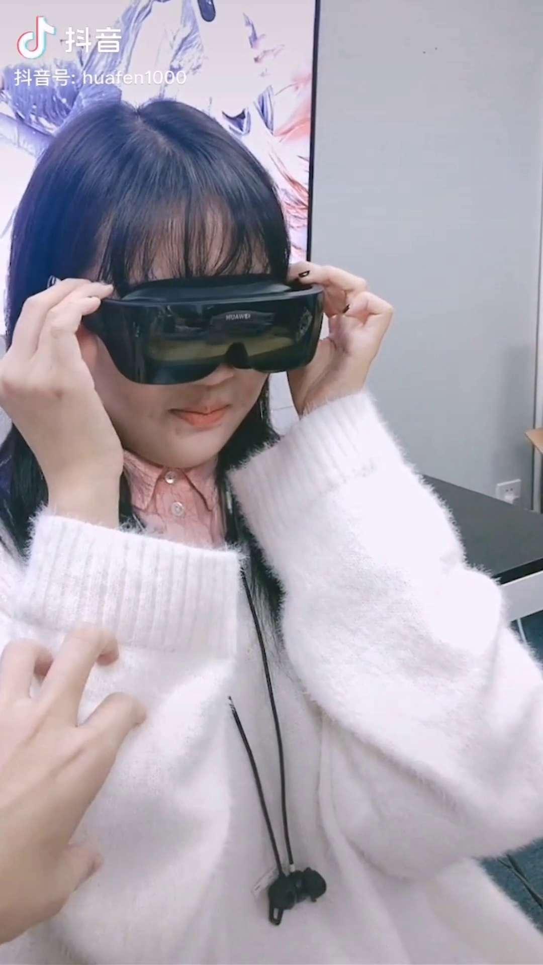 来看看小姐姐怎么安利华为VR~,穿戴健康-花粉俱乐部