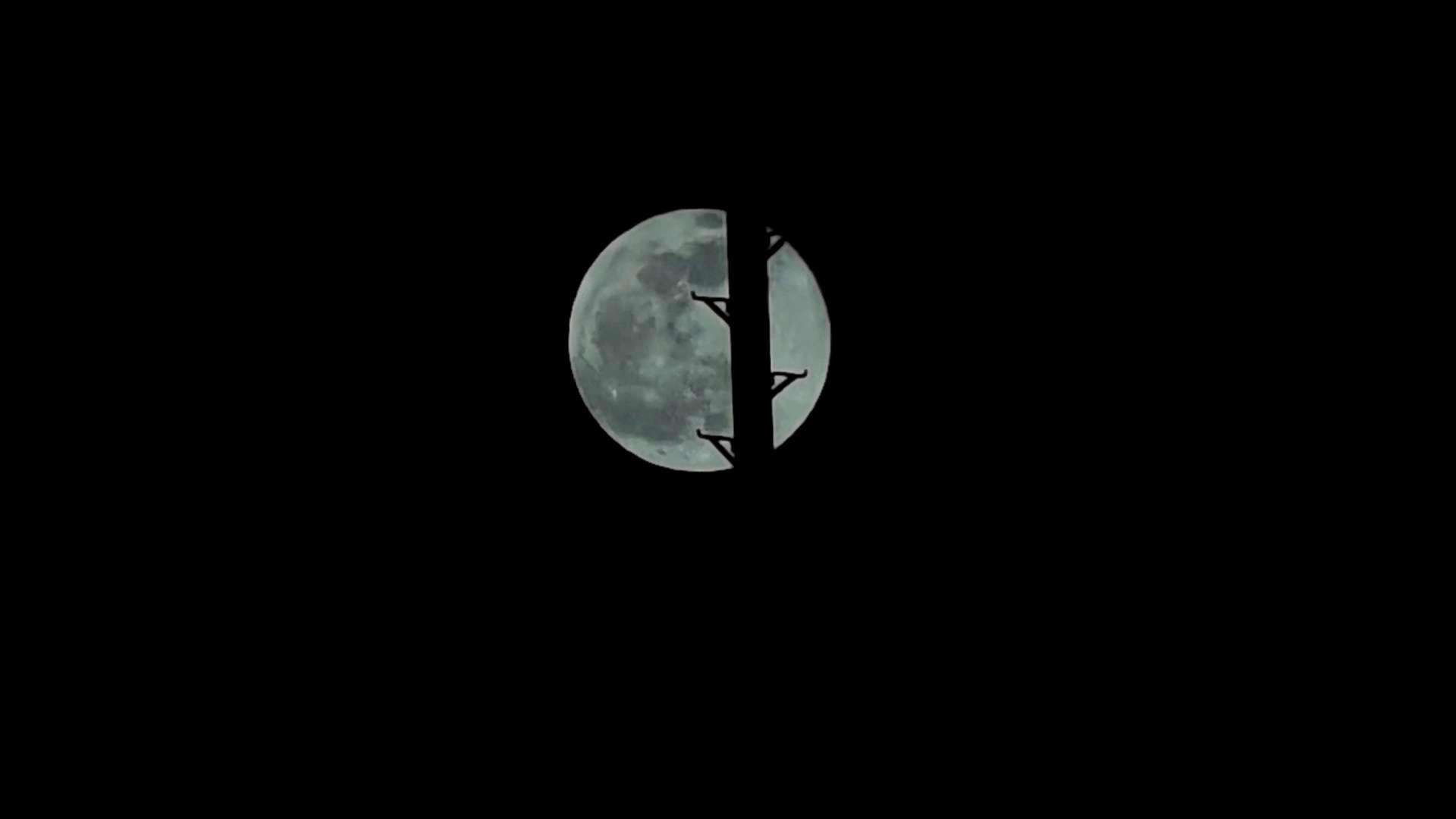 2020年的最后一轮圆月亮|Mate40pro长焦4K延时,随手拍-花粉俱乐部