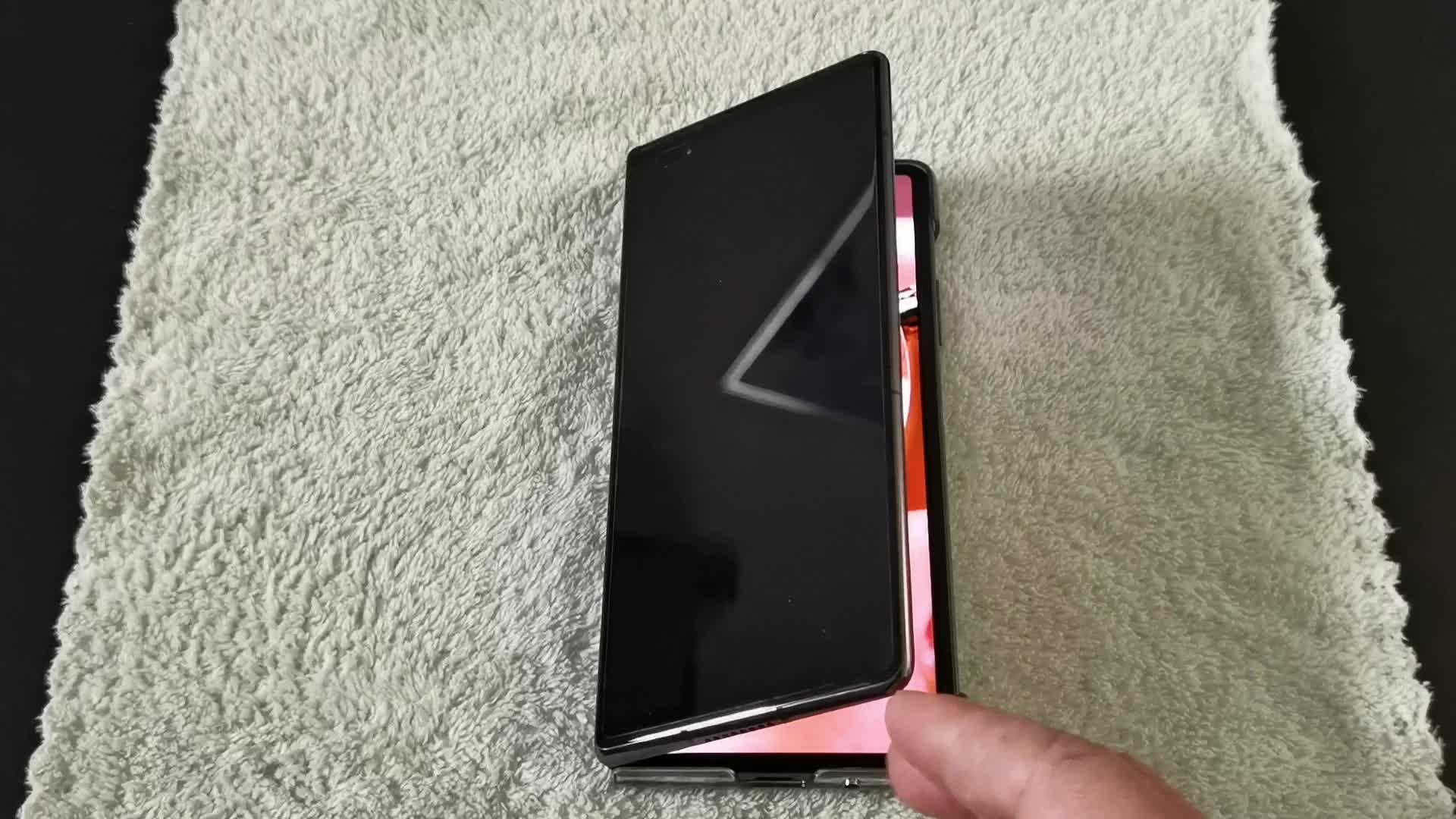 华为Mate X2折叠屏手机,展开、折叠演示!,华为Mate系列-花粉俱乐部