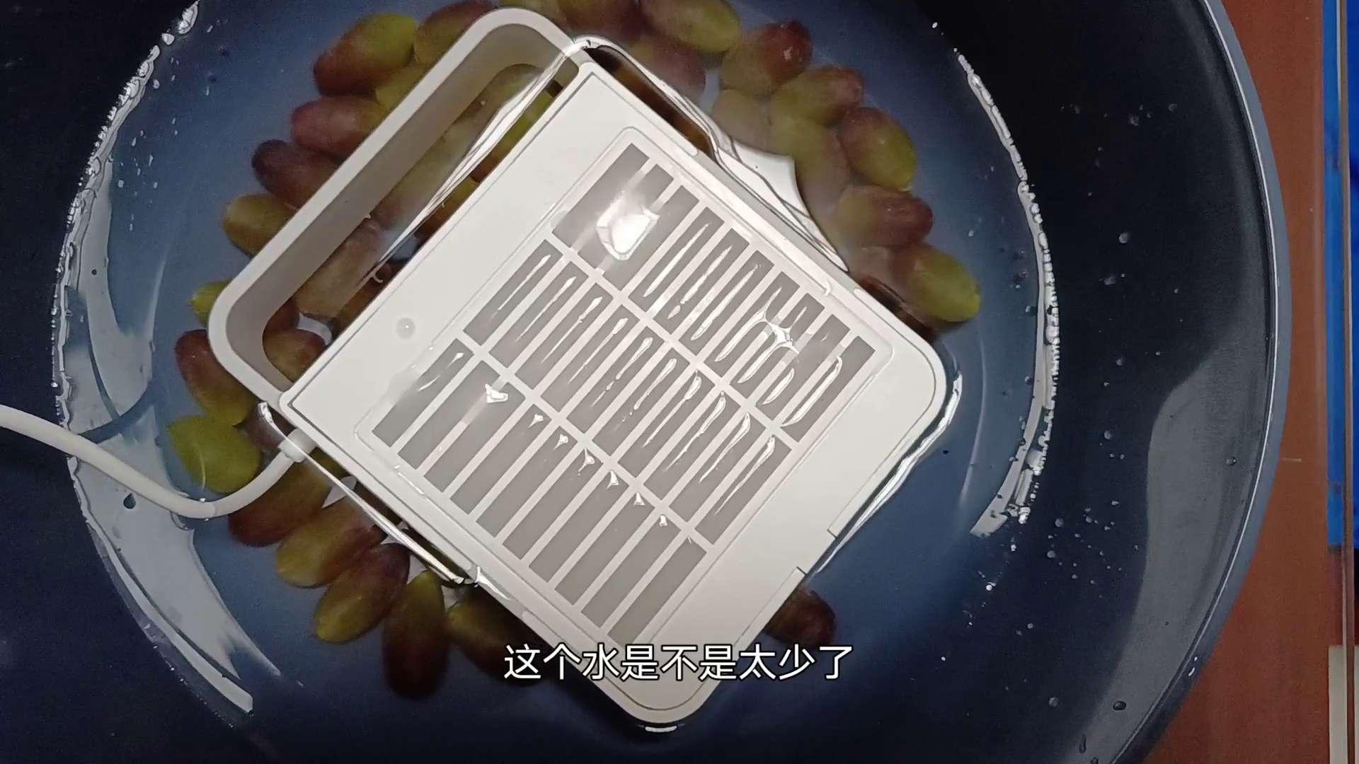 【视频】用小盾食物净化机清洗葡萄,HiLink生态产品-花粉俱乐部